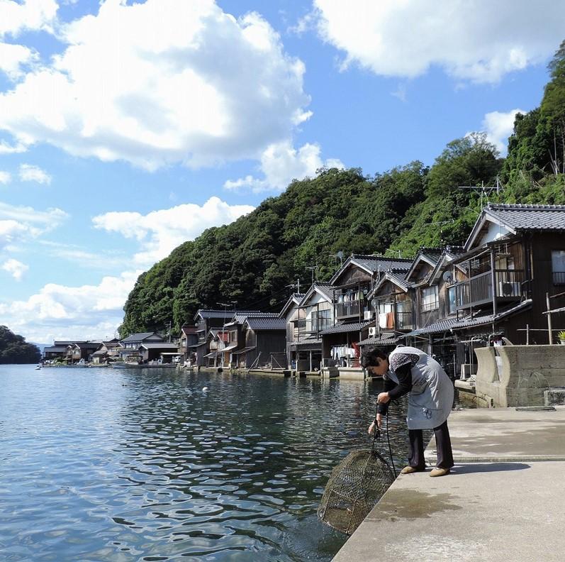 在京都,有这样一个依海而建的世外桃源....